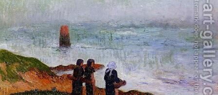 Breton Women by the Sea by Henri Moret - Reproduction Oil Painting