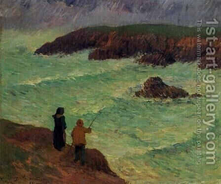The Cliffs near the Sea by Henri Moret - Reproduction Oil Painting