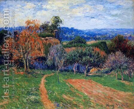 A Farm near Pont Aven by Henri Moret - Reproduction Oil Painting