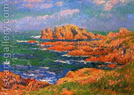 The Rocks at Ouessant by Henri Moret - Reproduction Oil Painting