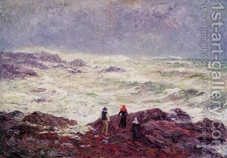 Rough Weather at Raguenez, near Pont Aven by Henri Moret - Reproduction Oil Painting