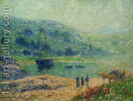 Creek in Brittany by Henri Moret - Reproduction Oil Painting