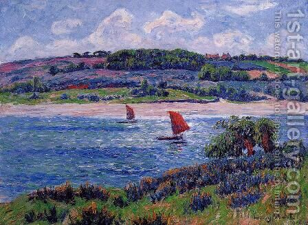 Balon River, Fnistere by Henri Moret - Reproduction Oil Painting
