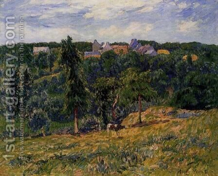 Village near Clohars by Henri Moret - Reproduction Oil Painting