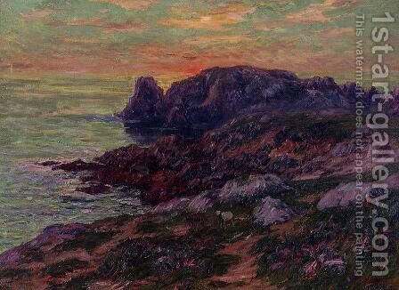 Ile d'Ouessant, Finistere by Henri Moret - Reproduction Oil Painting