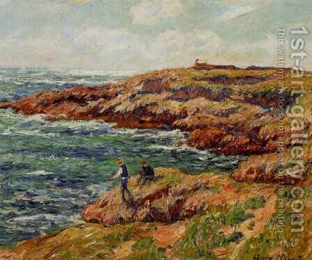 Fishermen on the Breton Coast by Henri Moret - Reproduction Oil Painting
