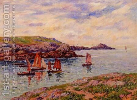 Porspodor, Finistere by Henri Moret - Reproduction Oil Painting
