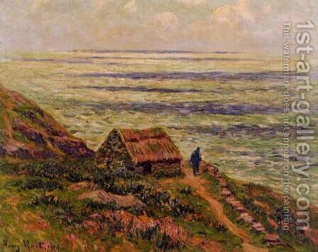 Cliffs of Jaboure by Henri Moret - Reproduction Oil Painting