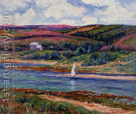 The River at Belon by Henri Moret - Reproduction Oil Painting