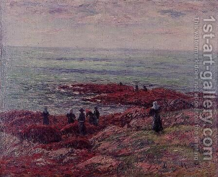 The Breton Coast III by Henri Moret - Reproduction Oil Painting
