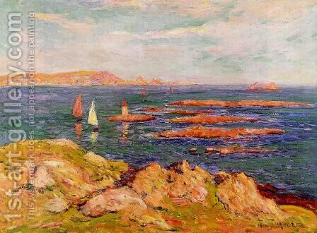 By the Sea by Henri Moret - Reproduction Oil Painting