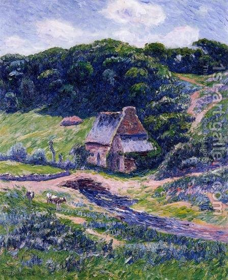 Farm at Doelan by Henri Moret - Reproduction Oil Painting