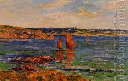 Red Rocks by Henri Moret - Reproduction Oil Painting