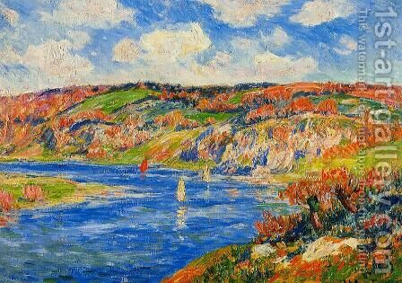 Riviere de St. Paurice, Finistere by Henri Moret - Reproduction Oil Painting