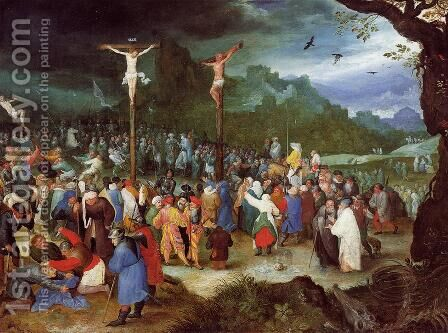 The Crucifixion by Jan The Elder Brueghel - Reproduction Oil Painting