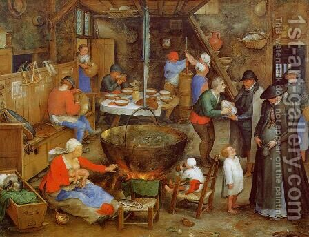 The Visit to the Farm by Jan The Elder Brueghel - Reproduction Oil Painting