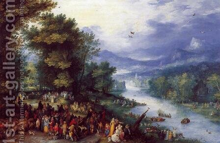 Landscape with the Young Tobie by Jan The Elder Brueghel - Reproduction Oil Painting