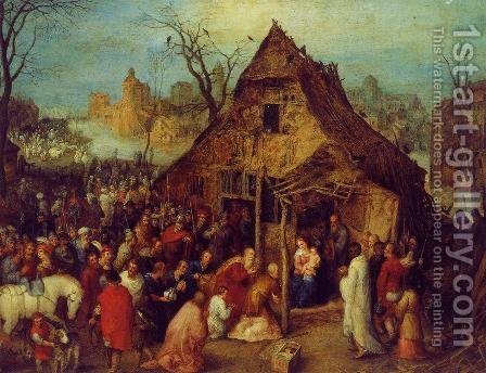 The Adoration of the Magi I by Jan The Elder Brueghel - Reproduction Oil Painting