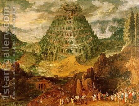 The Tower of Babel by Jan The Elder Brueghel - Reproduction Oil Painting