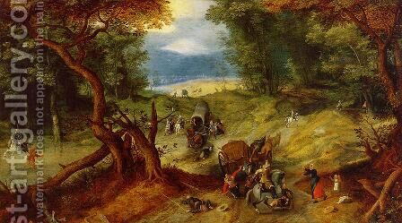 The Ambush by Jan The Elder Brueghel - Reproduction Oil Painting