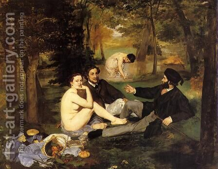 Luncheon on the Grass by Edouard Manet - Reproduction Oil Painting