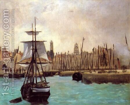 The Port of Calais by Edouard Manet - Reproduction Oil Painting