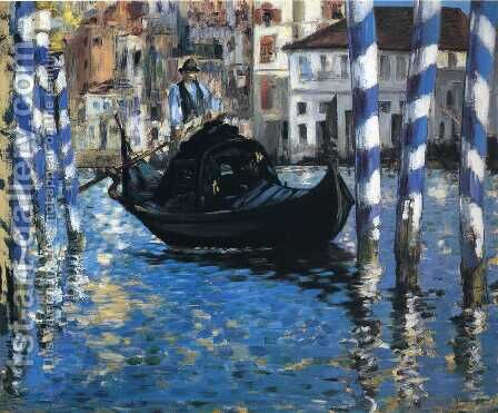 The Grand Canal, Venice I by Edouard Manet - Reproduction Oil Painting