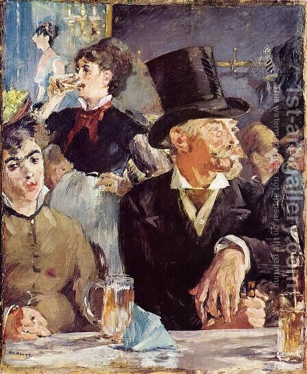 Cafe-Concert by Edouard Manet - Reproduction Oil Painting