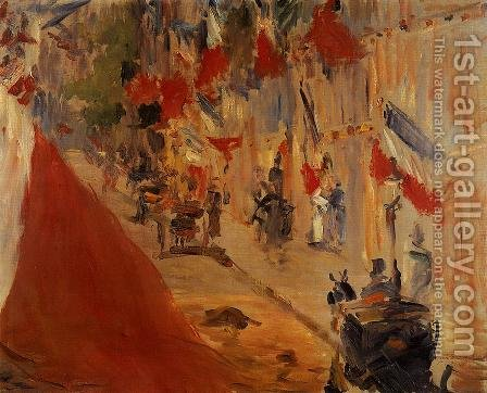 Rue Mosnier Decorated with Flags by Edouard Manet - Reproduction Oil Painting
