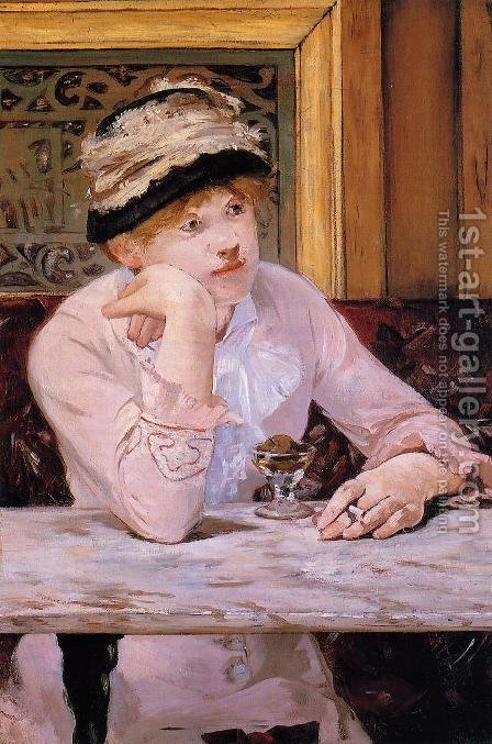 The Plum by Edouard Manet - Reproduction Oil Painting