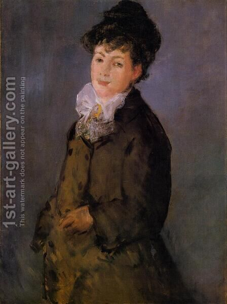 Isabelle Lemonnier with a White Scarf by Edouard Manet - Reproduction Oil Painting