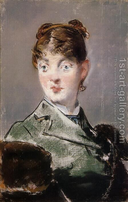 Parisienne, Portrait of Madame Jules Guillemet by Edouard Manet - Reproduction Oil Painting