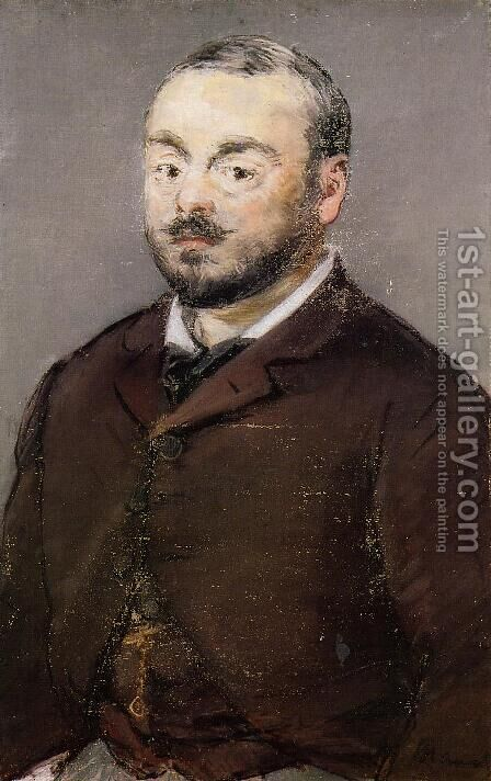 Portrait of the Composer Emmanual Chabrier by Edouard Manet - Reproduction Oil Painting
