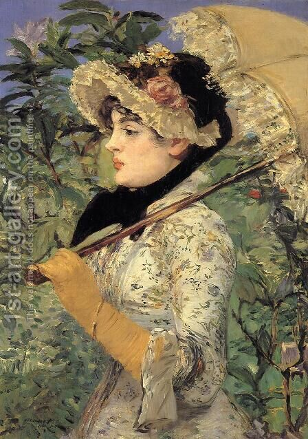 Jeanne: Spring by Edouard Manet - Reproduction Oil Painting