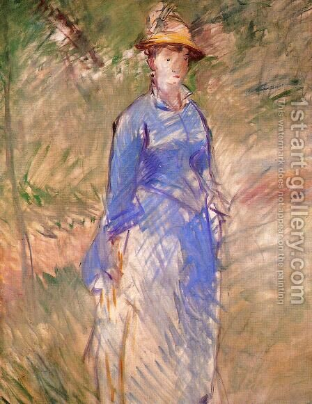 Young Woman in the Garden I by Edouard Manet - Reproduction Oil Painting