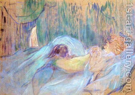 Brothel on the Rue des Moulins: Rolande by Toulouse-Lautrec - Reproduction Oil Painting
