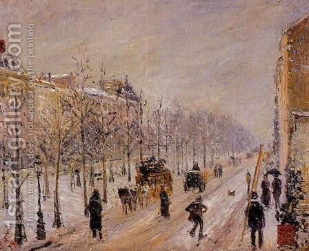 The Outer Boulevards, Snow Effect by Camille Pissarro - Reproduction Oil Painting
