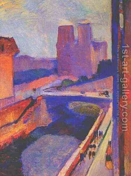 Notre Dame sunrise by Henri Matisse - Reproduction Oil Painting