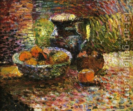 Still Life with Pitcher and Fruit by Henri Matisse - Reproduction Oil Painting