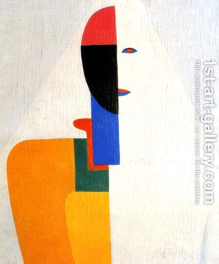 Female half figure by Kazimir Severinovich Malevich - Reproduction Oil Painting