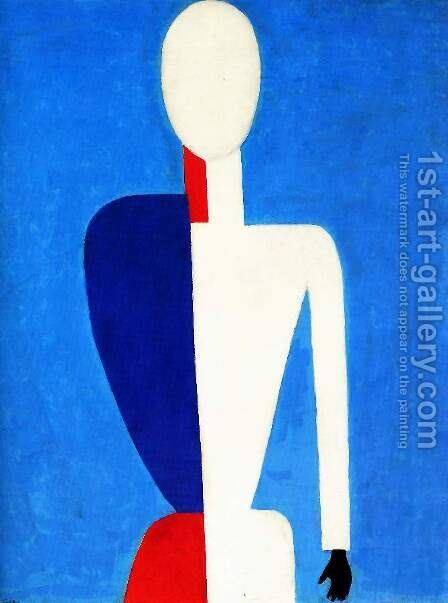 Prototype of a new image by Kazimir Severinovich Malevich - Reproduction Oil Painting