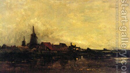 The River Meuse at Dordrecht by Charles-Francois Daubigny - Reproduction Oil Painting