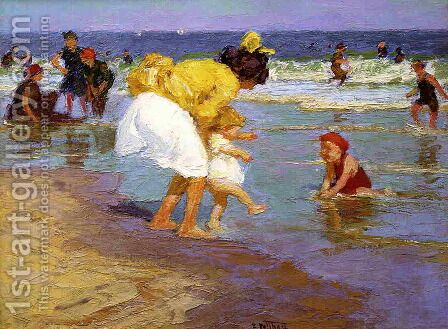 At the Seaside 2 by Edward Henry Potthast - Reproduction Oil Painting