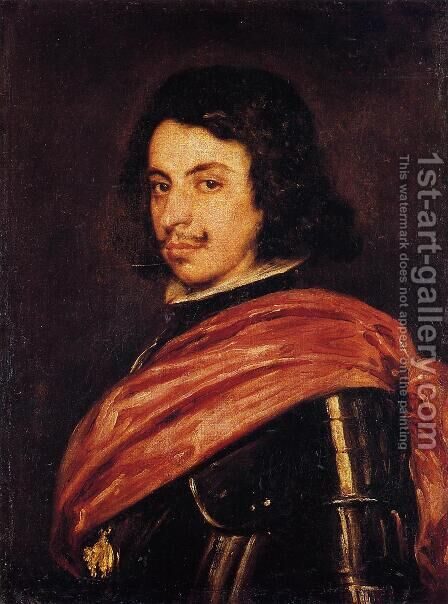 Francesco II d'Este, Duke of Modena by Velazquez - Reproduction Oil Painting