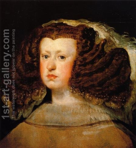 Queen Mariana I by Velazquez - Reproduction Oil Painting