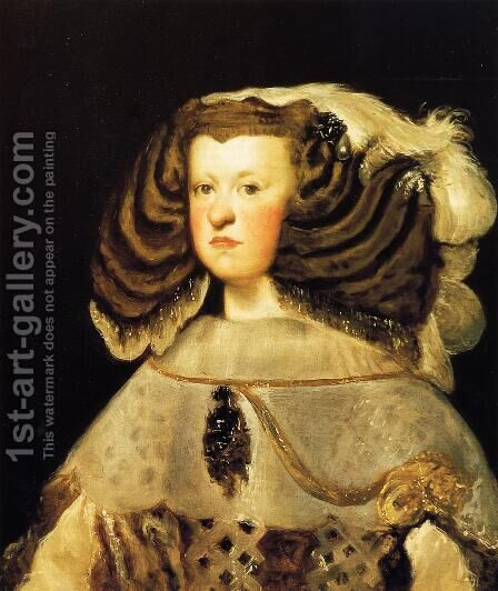 Queen Mariana II by Velazquez - Reproduction Oil Painting
