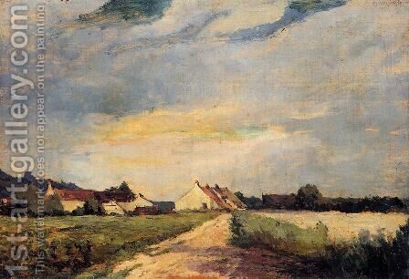 Landscape with Houses by Albert Lebourg - Reproduction Oil Painting