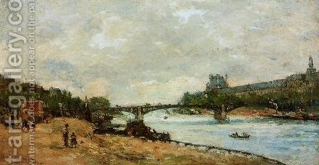 Paris, the kBridge of Saint-Peres by Albert Lebourg - Reproduction Oil Painting