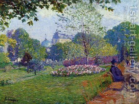 The Parc Monceau by Albert Lebourg - Reproduction Oil Painting