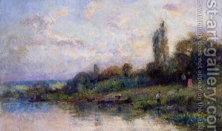 The Banks of the Seine by Albert Lebourg - Reproduction Oil Painting